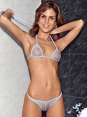 Nella Gets Wet in a See-Through Bikini - 4/22/2008
