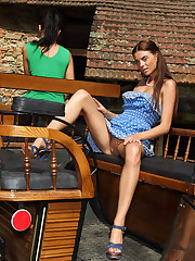 Hot Upskirt Shots of Euro Beauty Anastasia - 4/24/2012