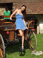 Hot Upskirt Shots of Euro Beauty Anastasia - 4/24/2012