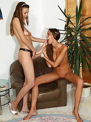 Silvie Delux Takes Eufrats Strap On � 7/15/2011