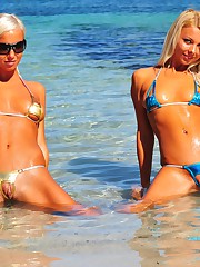 Here you can see absolutely perfect models wearing the smallest bikinis on earth. Our pictures and videos are taken in public places and on public beaches. Only available here! Fantasy thongs like Triangle, Chains, Zipper and a few Pearl Strings created by ourselves.