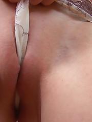 :: 18CloseUp.com ::  Teen Stuffs her Panties Up her Pussy