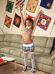 Schoolgirl Gigi Rivera Spreads Her Big Pussy Lips - 9/14/2012