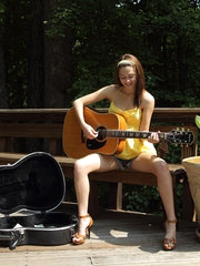 Kiera Winters Plays the Guitar then Trys Out the Dream Catcher - 6/29/2012