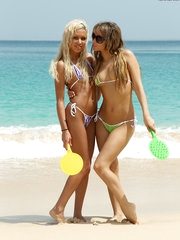 Pussy Play with Kacey Jordan and Alexa on a Beach in the Caribbean - 7/27/2012