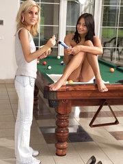 Alana Plays Billiards - 4/15/2008