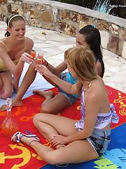 Drunken Lesbian 3-Way in Paradise - 7/29/2010