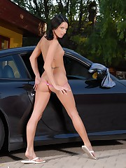 Suzy Black knows what she likes, and I'm pretty sure it's your favorite things too! Fast cars and pussy!