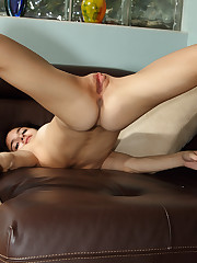 Very Flexible Tamara Jade on Leather Sofa - 10/6/2010