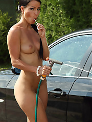 After a Carwash Euro Babe Melissa Cools Her Pussy Off - 5/26/2012