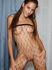 Anita Pearl in Fishnets Stuffs Panties � 6/24/2011