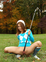 Gigi Rivera Rams Golf Club Deep Before String of Beads Outside � 12/20/2011