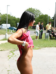 Ashley Bulgari Walks Around Borough Anent one's birthday suit - 7/13/2012