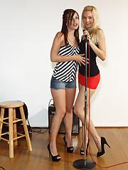 Franziska Spreads and Licks Maryjane Johnsons Pussy � 8/26/2011