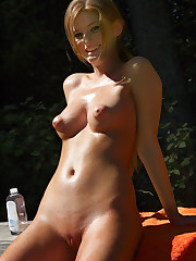 Faye Reagan Outside with Oil - 3/28/2008