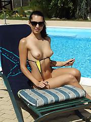 Bikini Babe Playful Anne Soaking Up the Sun - 5/3/2012