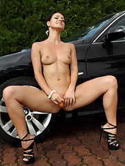 After a Carwash Euro Babe Melissa Pleasures Herself - 5/25/2012