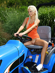 Franziska Takes Her Mower for a Ride - 5/26/2009