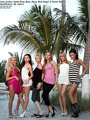6 Babes Go Crazy on a Public Beach - 2/8/2011